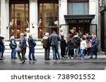 vienna  austria   october 21 ... | Shutterstock . vector #738901552