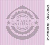 between love and hate retro... | Shutterstock .eps vector #738905506