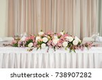 beautiful wedding floral... | Shutterstock . vector #738907282