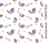vector seamless pattern of... | Shutterstock .eps vector #738937312