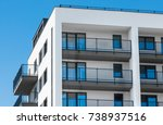 new apartments building... | Shutterstock . vector #738937516
