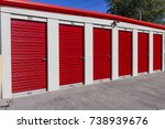 numbered self storage and mini... | Shutterstock . vector #738939676