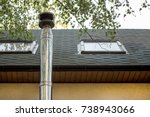 stainless steel chimney flue ... | Shutterstock . vector #738943066