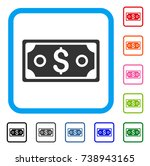 dollar banknote icon. flat gray ...