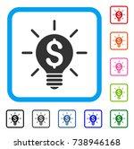 business idea bulb icon. flat...