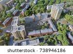 modern residential complex bird'... | Shutterstock . vector #738946186