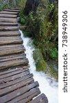 landscape at plitvice lakes in... | Shutterstock . vector #738949306