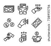 money   finance icon set | Shutterstock .eps vector #738955756