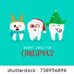 set of christmas tooth...   Shutterstock .eps vector #738956896