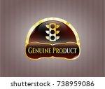 gold emblem with traffic light ... | Shutterstock .eps vector #738959086