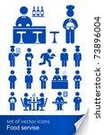 food service icon vector...   Shutterstock .eps vector #73896004