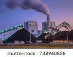 coal power plants play a vital... | Shutterstock . vector #738960838