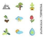 ecology nature icons set.... | Shutterstock . vector #738980566