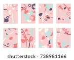 set of 8 cover templates.... | Shutterstock .eps vector #738981166