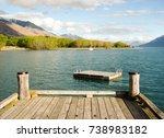 pier south island new zealand  | Shutterstock . vector #738983182