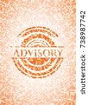 advisory abstract orange mosaic ... | Shutterstock .eps vector #738987742