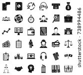 business people icons set.... | Shutterstock . vector #738994486