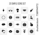 set of 20 editable kitchenware...