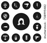 set of 13 editable barber icons....