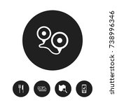 set of 5 editable trip icons....