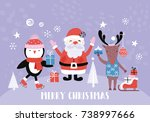 holiday and christmas hand... | Shutterstock .eps vector #738997666