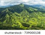 aerial view over kauai  hawaii | Shutterstock . vector #739000138
