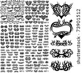 over 150 tribal tattoos. set 1 6 | Shutterstock .eps vector #73901512