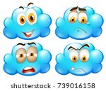blue clouds with different... | Shutterstock .eps vector #739016158