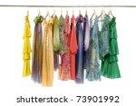 Stock photo fashion clothing rack display 73901992