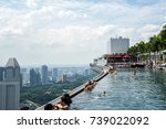 view from famous infinity pool... | Shutterstock . vector #739022092