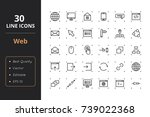 30 web line icons | Shutterstock .eps vector #739022368