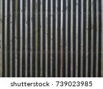 background of a wooden fence... | Shutterstock . vector #739023985