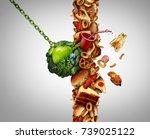 nutrition detox concept diet... | Shutterstock . vector #739025122