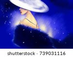 elegant lady. fashion... | Shutterstock . vector #739031116