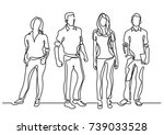 continuous line drawing of...   Shutterstock .eps vector #739033528