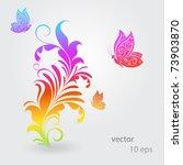 vintage colorful floral... | Shutterstock .eps vector #73903870