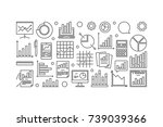 data analysis and research... | Shutterstock .eps vector #739039366