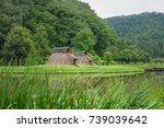 pit dwelling house | Shutterstock . vector #739039642