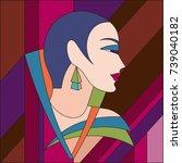 Fashionable Women Pattern. Art...