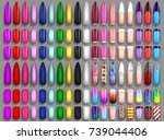 set of nails  manicure | Shutterstock .eps vector #739044406