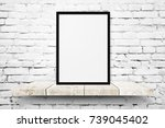 white blank photo frame mockup... | Shutterstock . vector #739045402