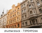traditional facade of buildings ... | Shutterstock . vector #739049266