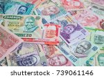 variety of the african banknotes | Shutterstock . vector #739061146