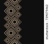 golden frame in oriental style. ...   Shutterstock .eps vector #739075462