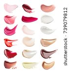 smears of different colors are... | Shutterstock . vector #739079812
