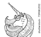 unicorn isolated. magical... | Shutterstock .eps vector #739081552