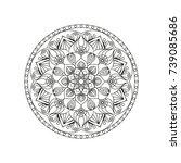 flower mandala. vintage...   Shutterstock .eps vector #739085686