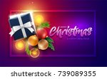christmas decoration objects ... | Shutterstock .eps vector #739089355