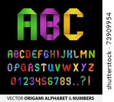 colorful ribbon alphabet with... | Shutterstock .eps vector #73909954