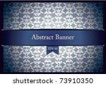 baroque pattern blue metallic... | Shutterstock .eps vector #73910350
